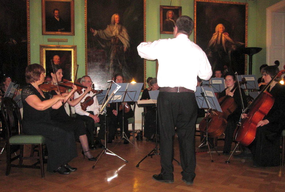 The KCO performing a charity concert at the Foundling Museum, London