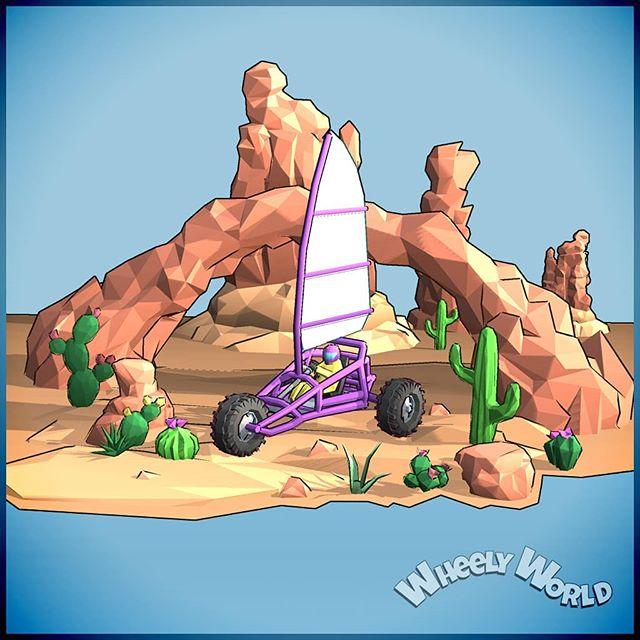 🌵🌞💛 . . . . . #wheelyworld #cloudlandstudios #endlessroller #indie #indiegame #indiestudio #southaustralia #mobilegames #android #ios #indiedev #lowpoly #artofinstagram #gamersofinstagram #artistsoninstagram #gamer #unity #unitygames #diorama #monstermode