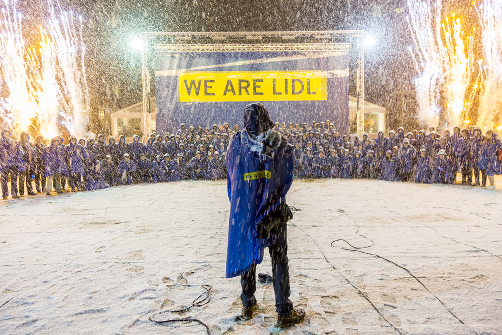 Lidl corporate event in the snow