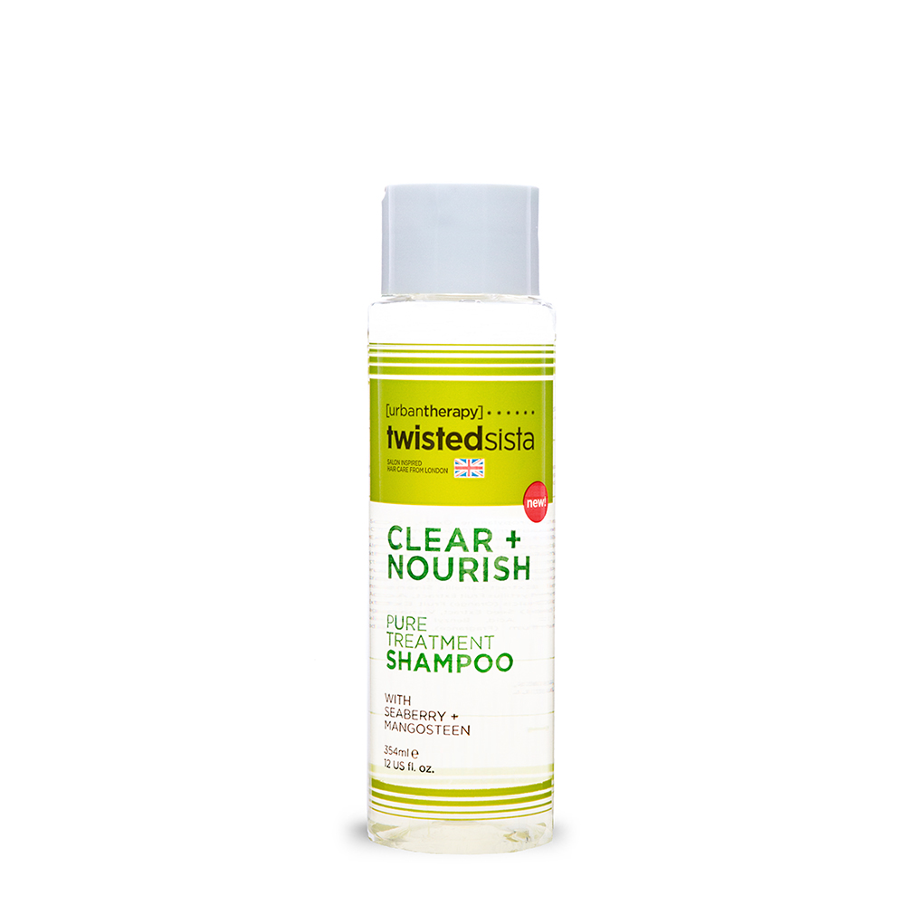 PURE TREATMENT SHAMPOO       12oz.    HAIR TYPE: THICK, COARSE, FINE & WAVY       A cleansing antioxidant to ease scalp and hair of residue build up due to environmental stresses.  The shampoo is soothing, invigorating and soft.