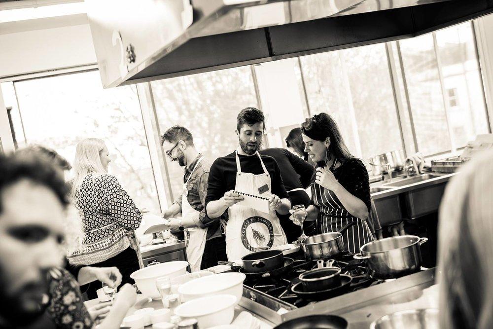 Kitchen Social black and white