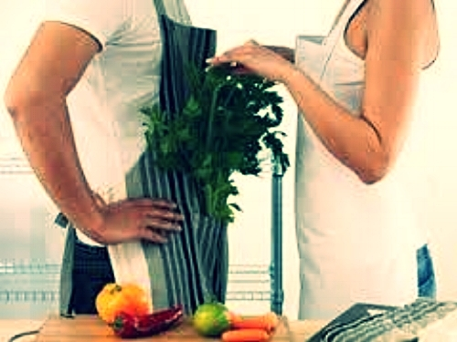 Kitchen Social boy and girl image