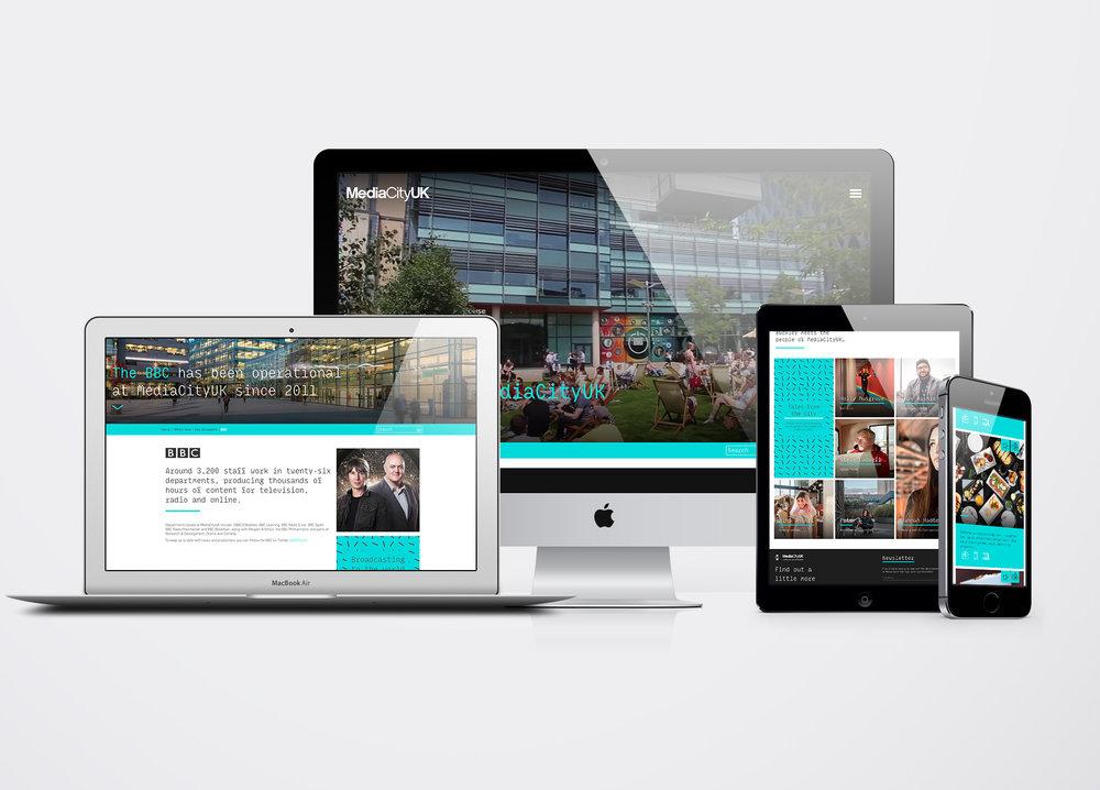 MediaCityUK Responsive website