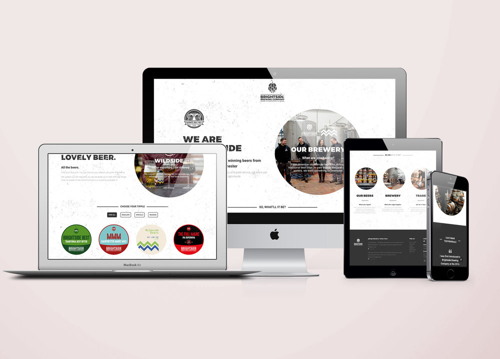Brightside responsive website