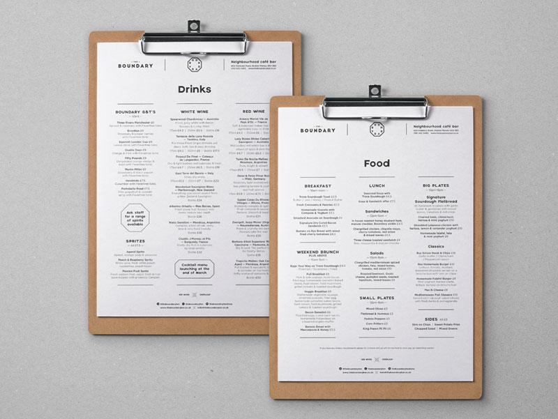 boundary bar menu