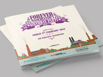 forever manchester birthday event programme