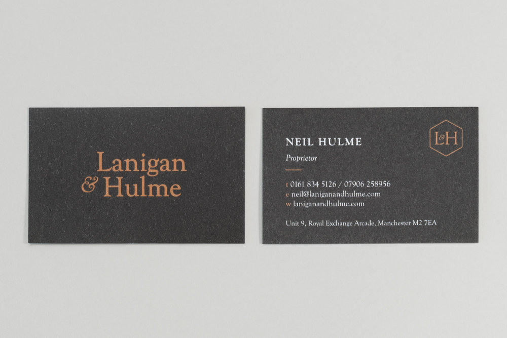 Lanigan & Hulme stationery