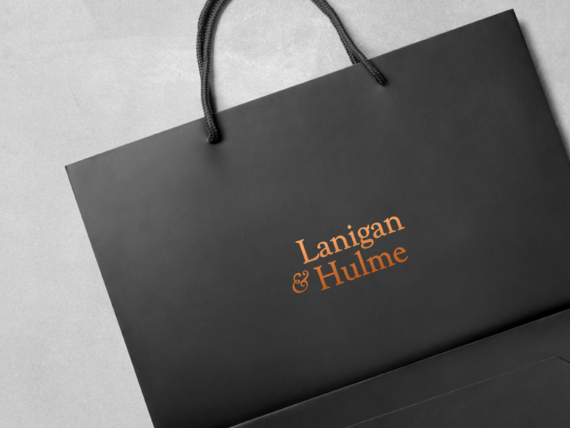 Lanigan & Hulme branded bag