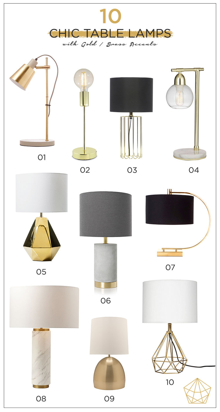 10 chic table lamps with gold brass accents harriet co chictablelampsg aloadofball Image collections