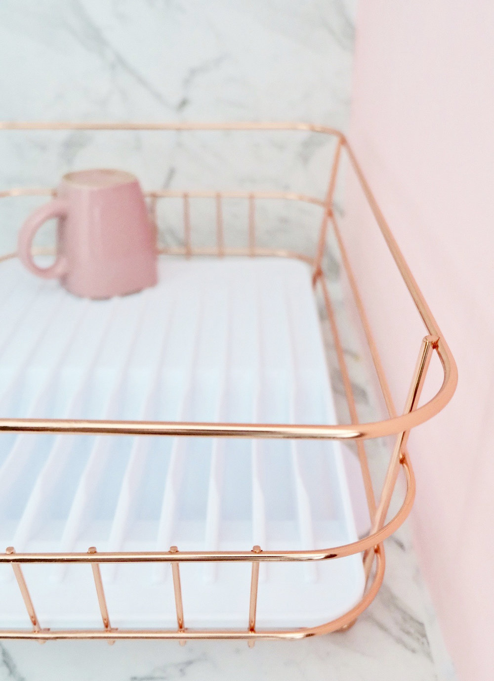 I even add Rose Gold Dish Rack! If they have come in Gold, I would buy it in a heartbeat!