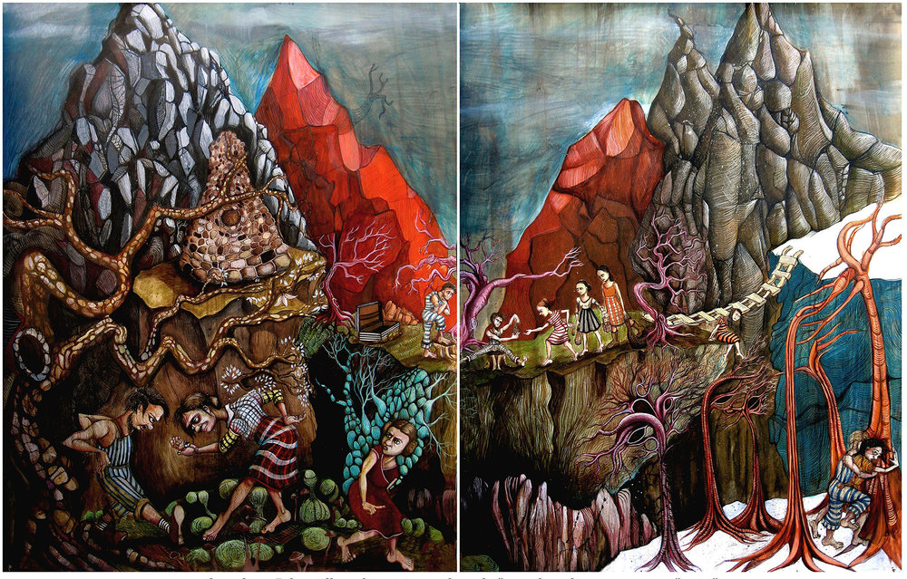 """Valley of Decision and Trade, 60""""x 40"""""""