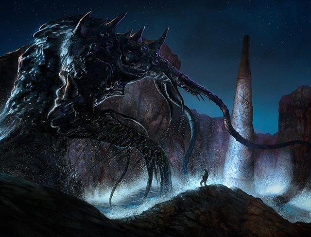 """""""Dagon"""" #lovecraft #fantasy #fantasyart"""