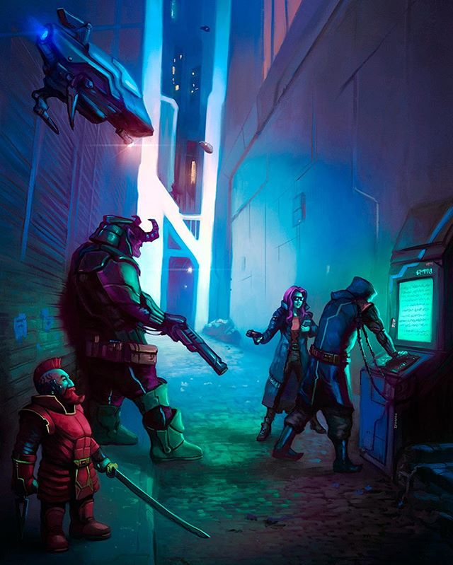 """Shadowrunning"" #shadowrun #shadowrunreturns #cyberpunk #fantasyart"