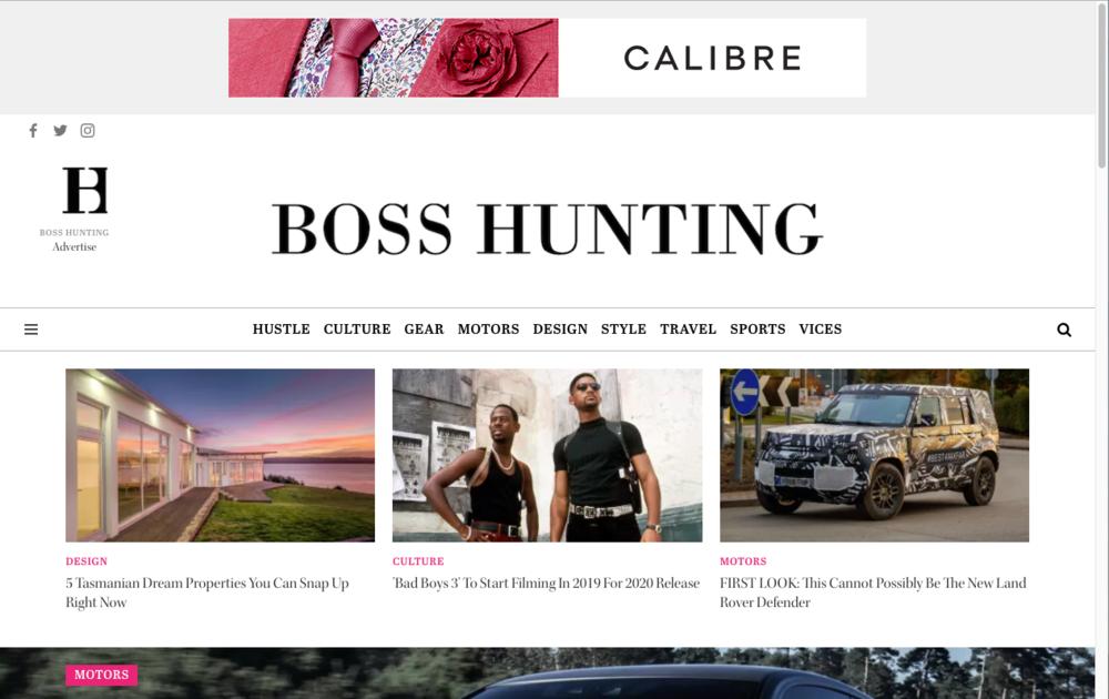 Boss Hunting Desktop Display