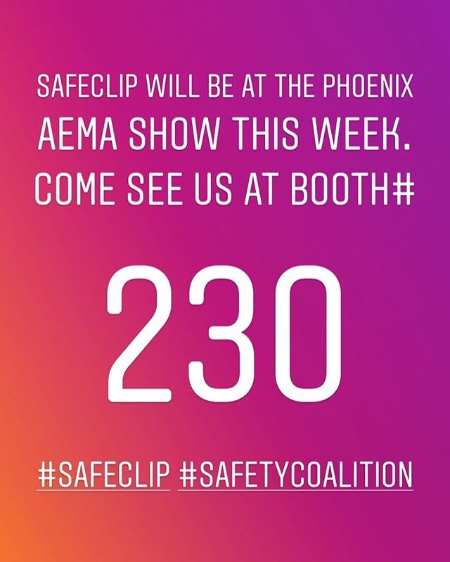 Come see us at the AEMA show this week in Phoenix!  #athletictraining #aemaphoenix18 #saferfootball #safeclip #safetycoalition #safetyfirst