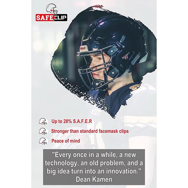 What do you do when no one seems to care about the big problem? You innovate. . . . #safeclip #safetycoalition #football #americanfootball #highschoolfootball #youthfootball #footballhelmet #footballhelmets #detroitsmallbusiness #smallbusiness #safetyfirst #safertomorrow