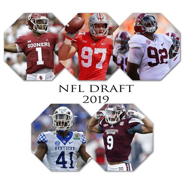 NFL draft is fast approaching! Who ya got going first? ✅ 2️⃣0️⃣1️⃣9️⃣ 🏈 #nfldraft2019 #pathtothedraft2019 #nfl #americanfootball . . . Check out our story to see our pick 💪🏻🏈