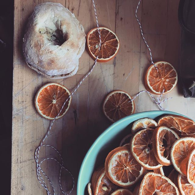 - @theuprootpieco is back in town and geee there's nothin quite like sweet friendship and a fresh bialys and winter decorating - ❄️🍊❄️🍊 don't you agree???!!