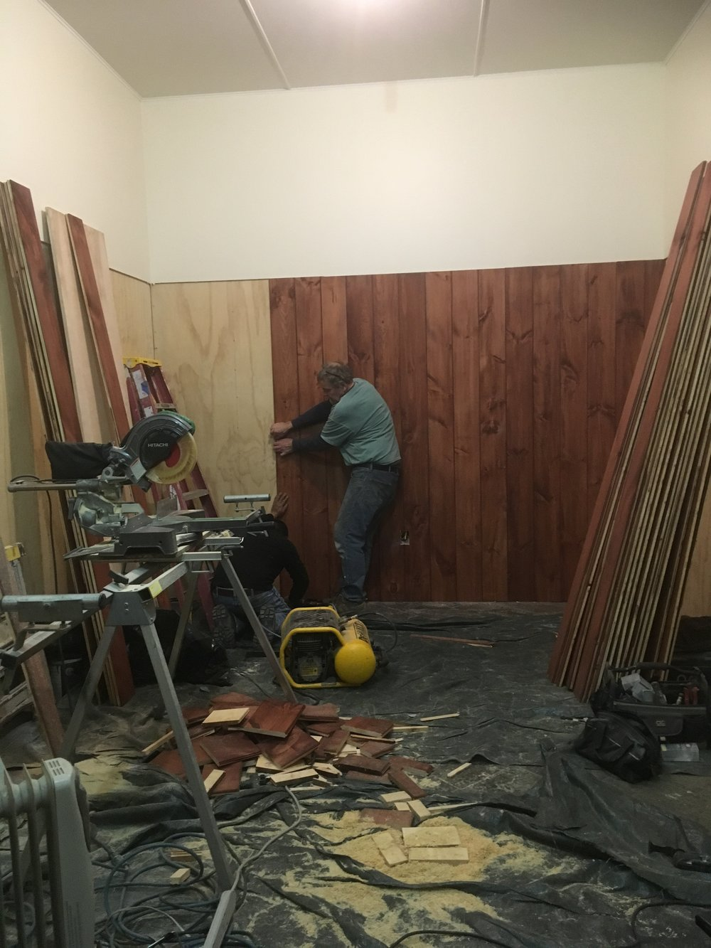 - Frank on the latest project, a beautiful new tack room!!