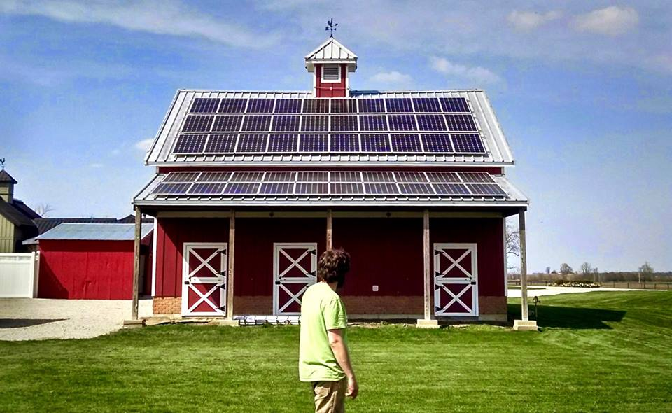 We restored this 19th-century barn and then we installed 21sth century solar technology on top!