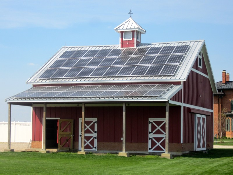 1880s barn with solar PV array