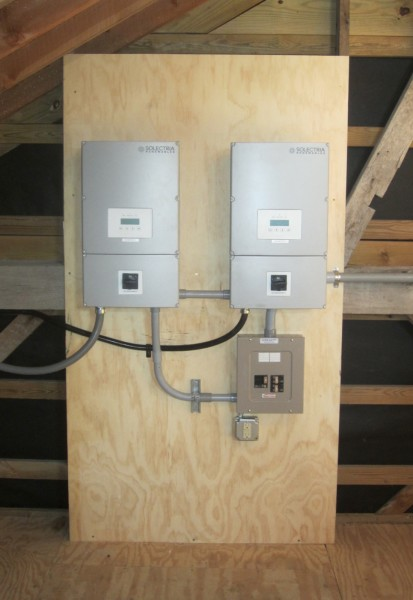 Inverters and electrical panel