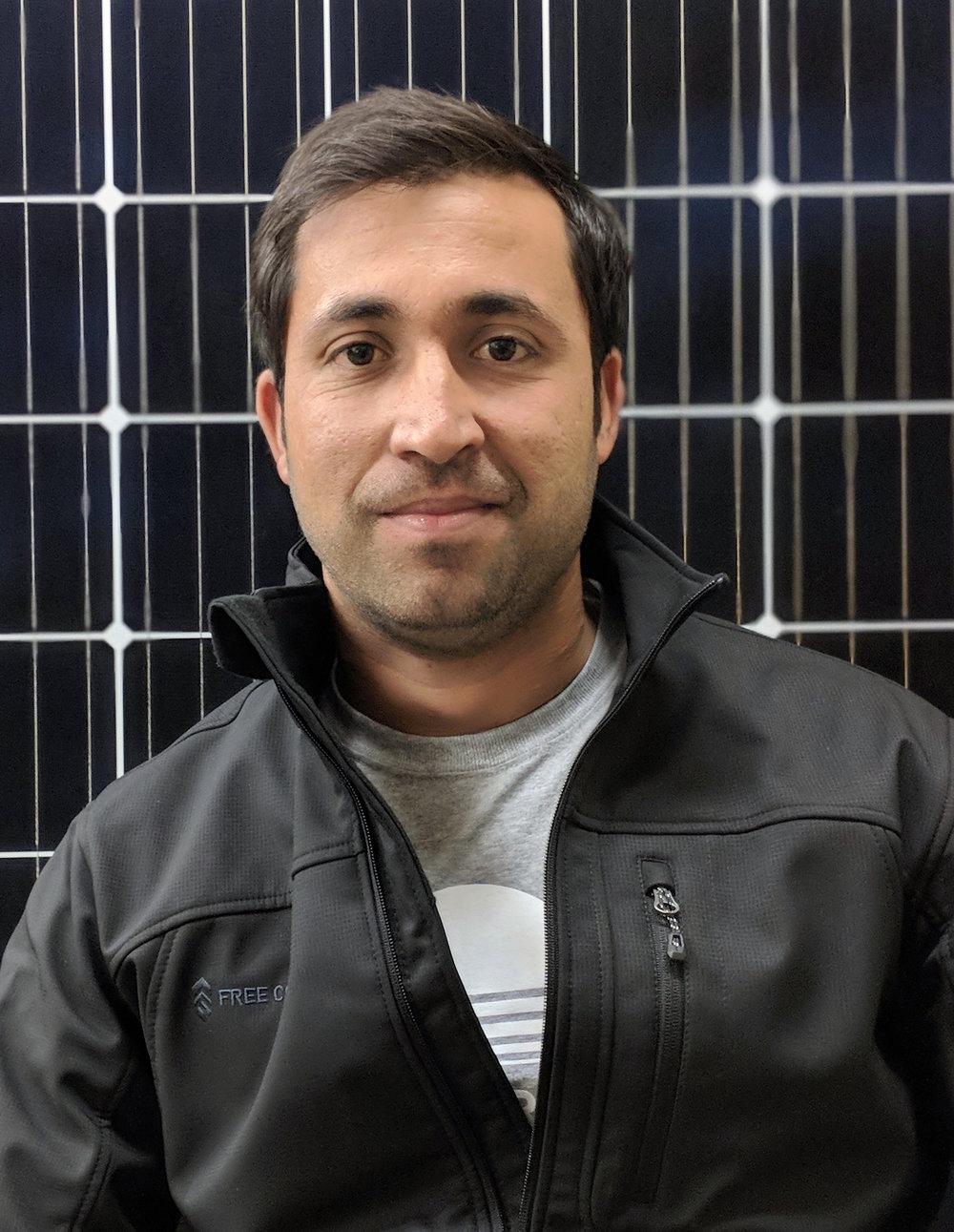 Waheed Asmati, Construction Engineer & Solar Installer
