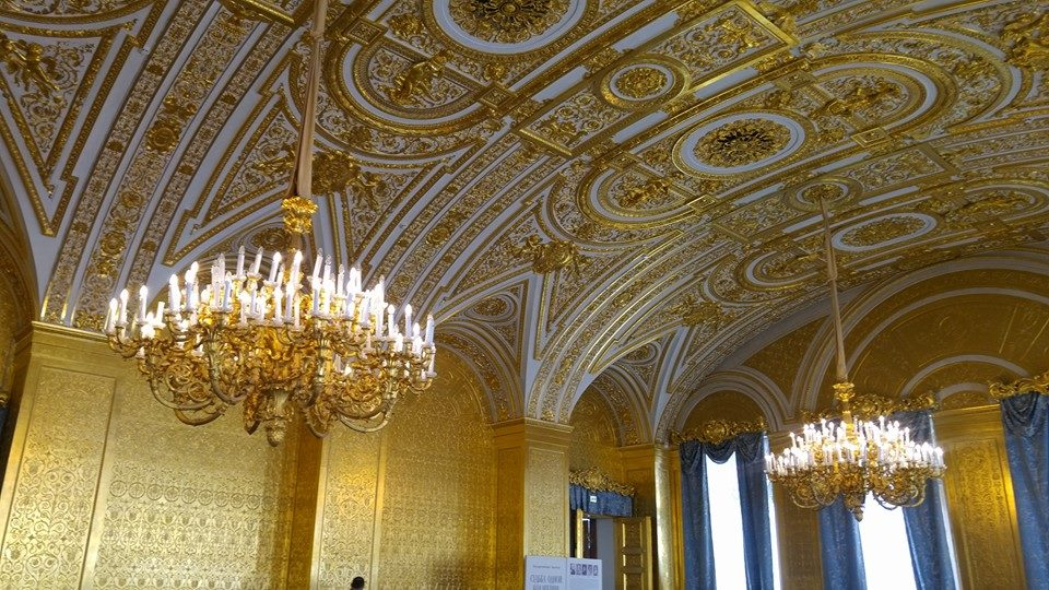 """Gold room"" at the Hermitage in St.Petersburg, Russia from our 2015 trip"