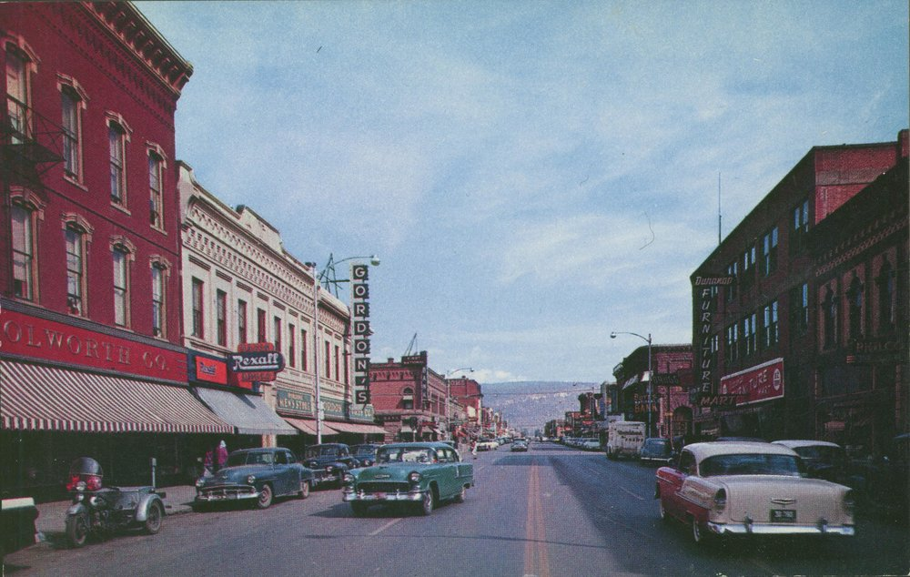 Downtown Durango, Colorado, mid- 1950's. Photo courtesy of Animas Museum.