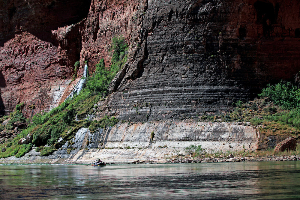 Boat in Marble Canyon. Photo by  Stephen Eginoire