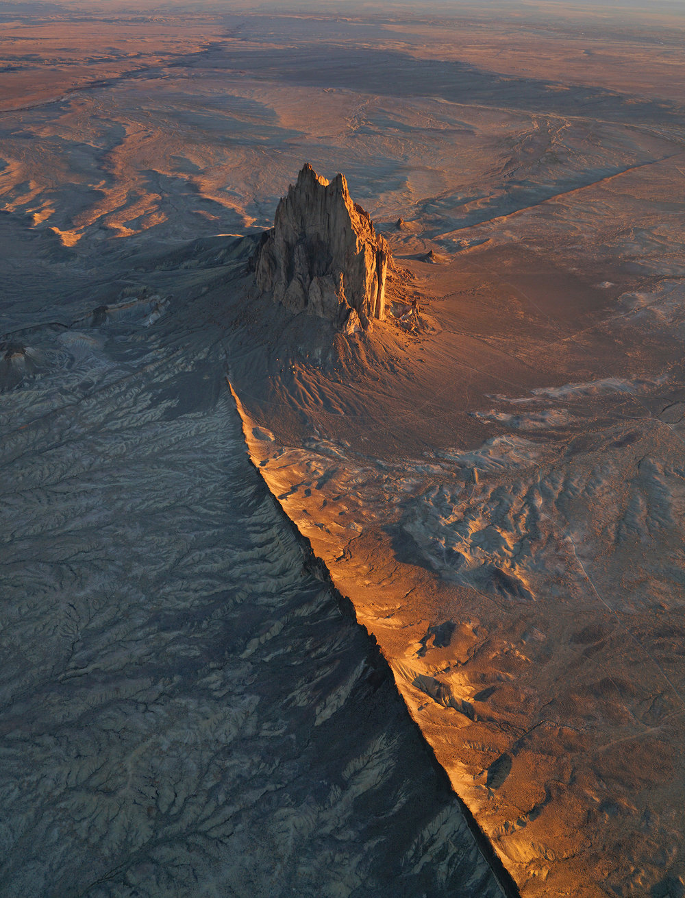 Shiprock at sunrise. Photo by Chris Dahl-Bredine