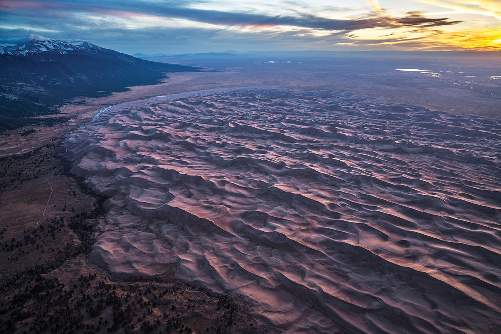 Great Sand Dunes National Park and Preserve at sunrise. Photo by Chris Dahl-Bredine