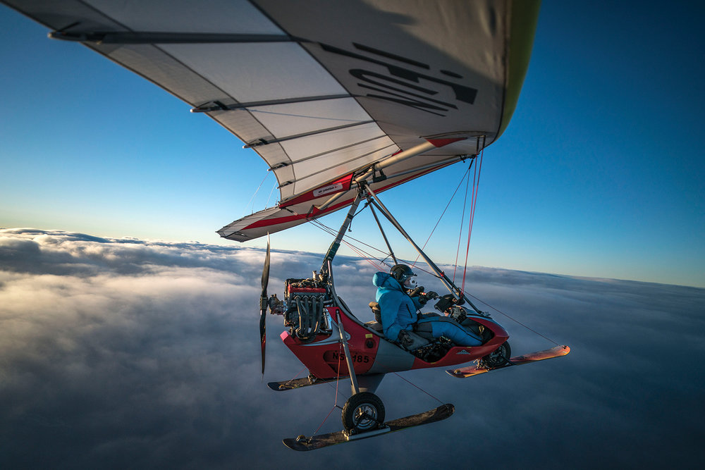 Self portrait above the clouds. Photo by Chris Dahl-Bredine