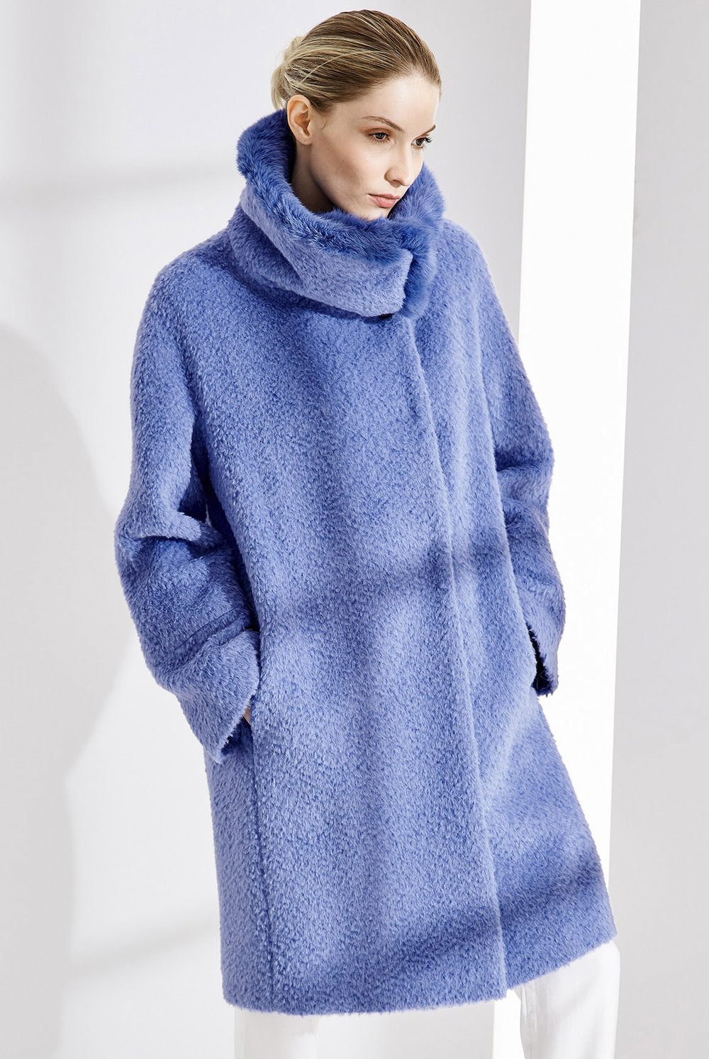 COAT ALESSANDRA AT-308   Colors: winter white, blue, black  Sizes: XS, S, M, L, XL