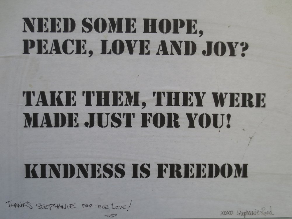 Kindness is Freedom (detail)
