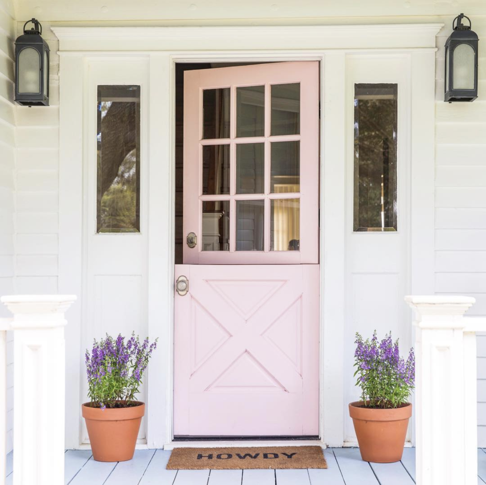Pink Dutch Door: Designer: Bailey Quin McCarthy