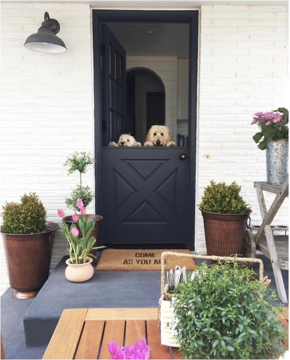 The beautiful Dutch door of Melissa at  http://inspiredhome.net