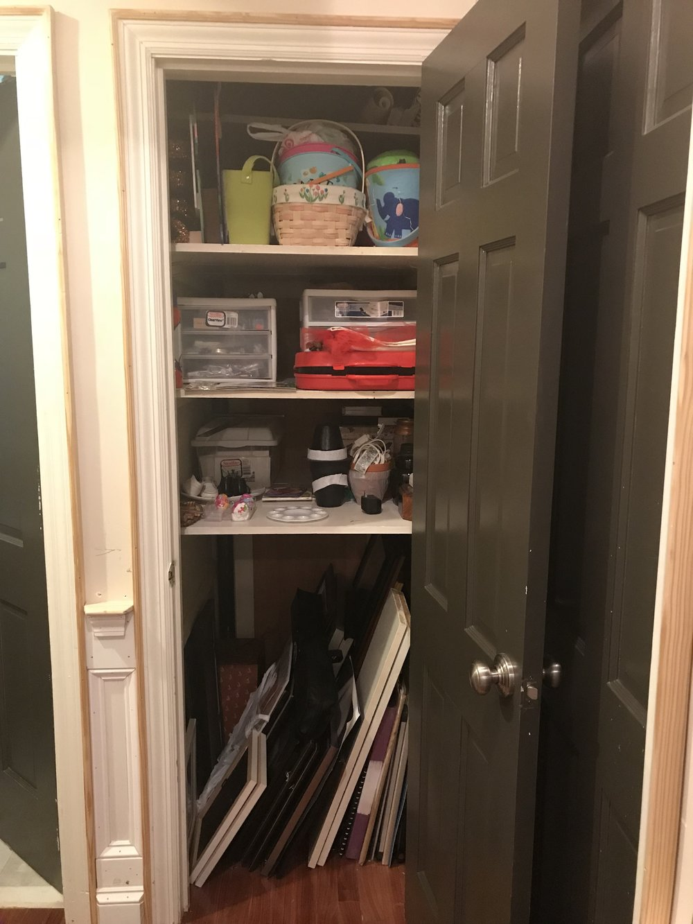 BEFORE: A challenge because it's such a deep closet.