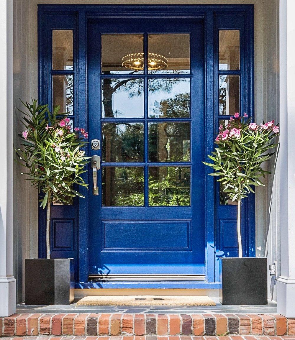 Sources:  Door Knobs ,  Initial Door Mat ,  Modern plant pots