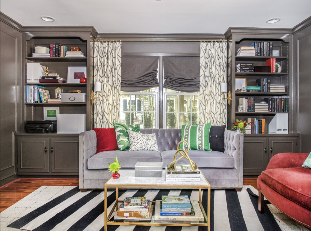 Best home library - home of Jana Donohoe of Jana Donohoe Designs Fayetteville NC
