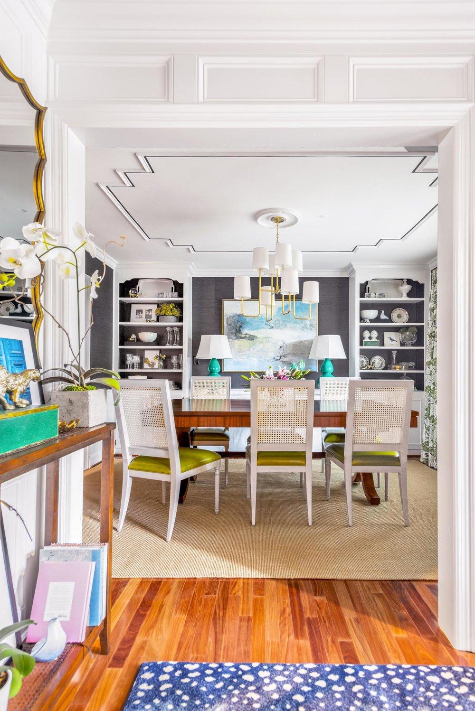 Formal dining room of  interior designer, Jana Donohoe Designs of Fayetteville, North Carolina