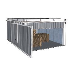 Моноблочные откатные ворота на 90 градусов