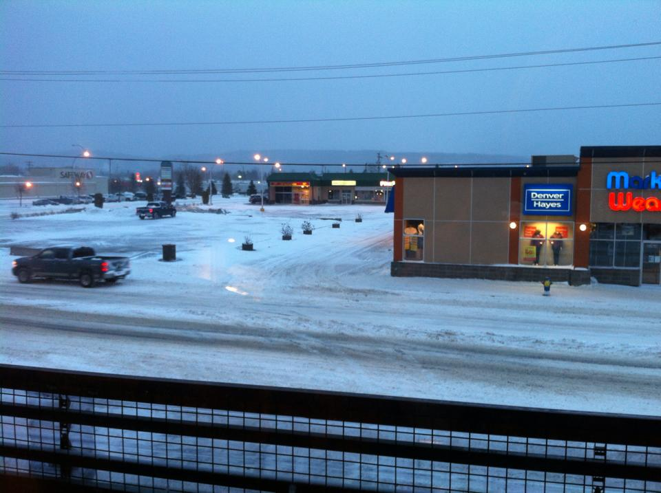 Terrace snow