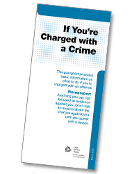 If you are charged with a crim e