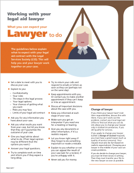 Working with your legal aid lawyer