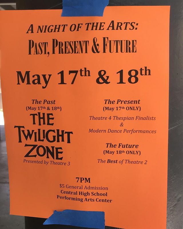 Come out and support the Arts! Our state-recognized Thespian performances and improv team will be featured during the May 17th show!