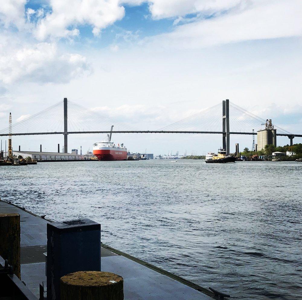 Savannah River and port