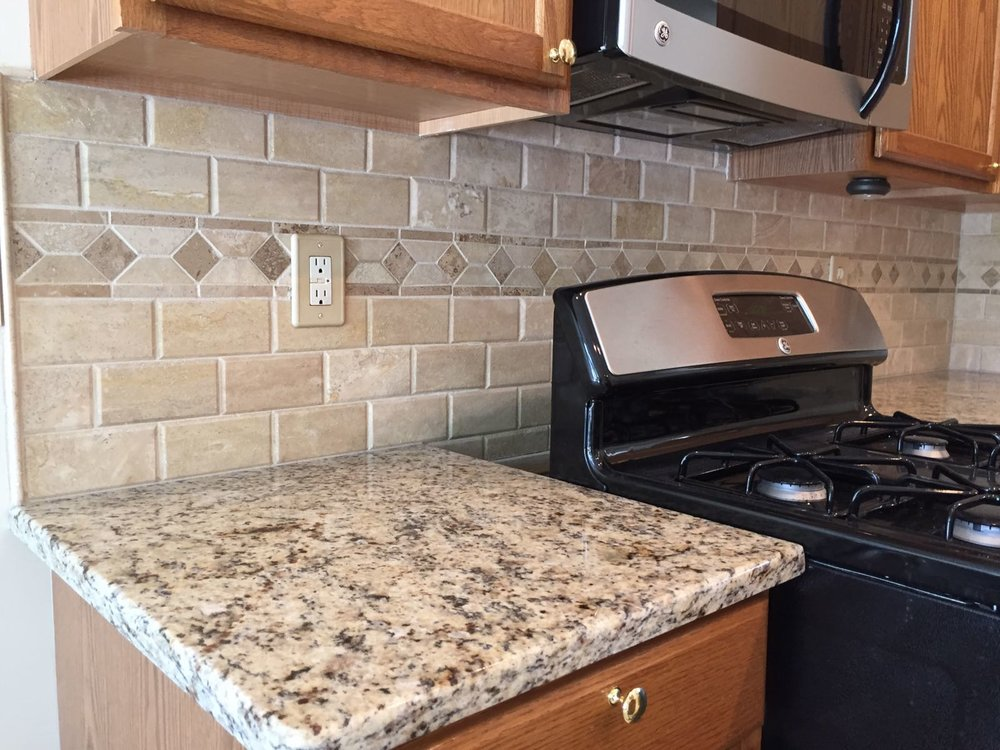 After - Kitchen Backsplash