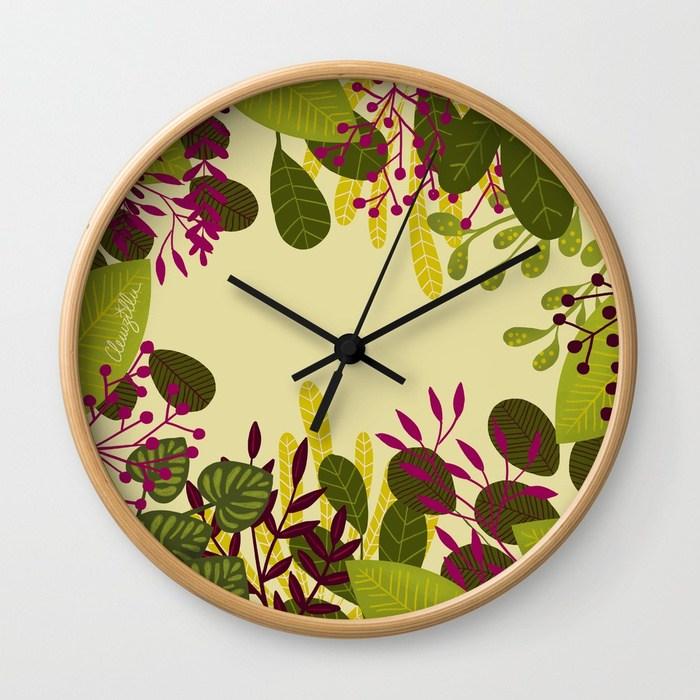 horloge illustration jungle