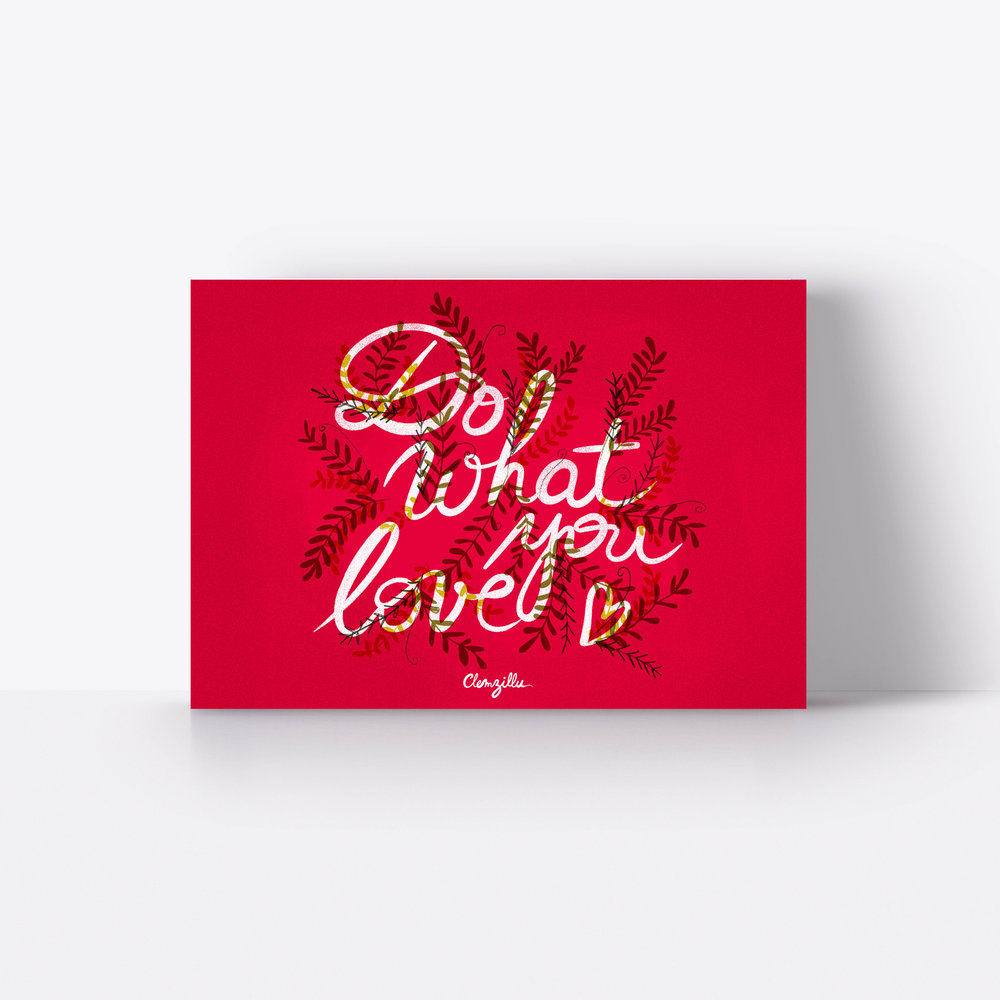 Do what you love Clemzillu illustration Lyon